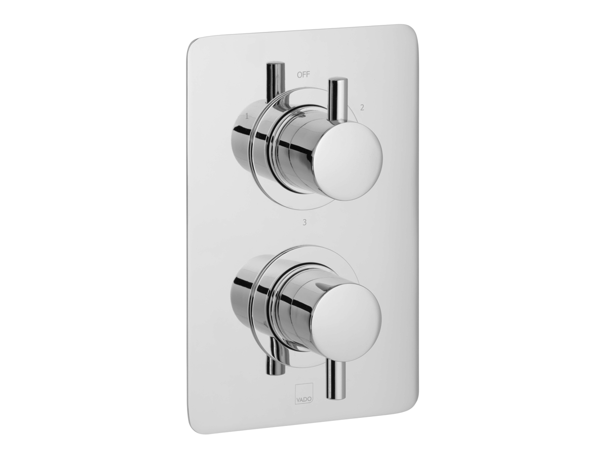 3 outlet, 2 handle concealed thermostatic shower valve thumbnail