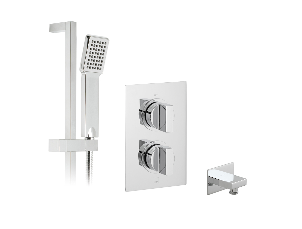 1 outlet, 2 handle concealed thermostatic shower valve and slide rail kit thumbnail