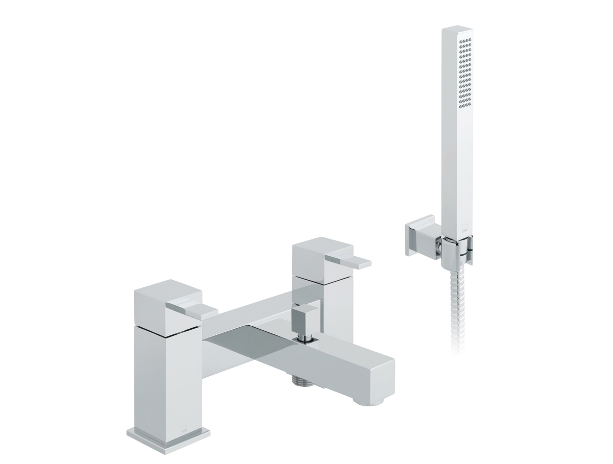 Square bath filler with shower kit thumbnail