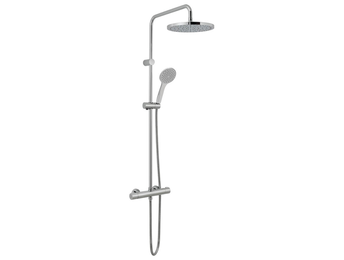 Thermostatic shower valve with rigid riser thumbnail