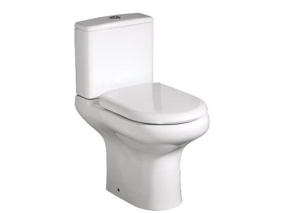 RAK Compact Deluxe Rimless comfort height, open back close couple wc with soft close seat thumbnail