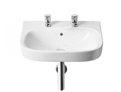 Roca Debba 450mm basin 2 tap hole thumbnail