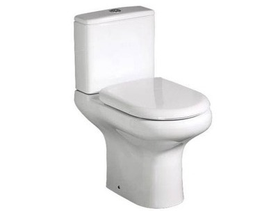 RAK Compact close couple open back wc with soft close seat thumbnail