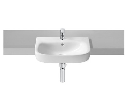 Roca Debba 520mm semi recess basin, 1 tap hole thumbnail