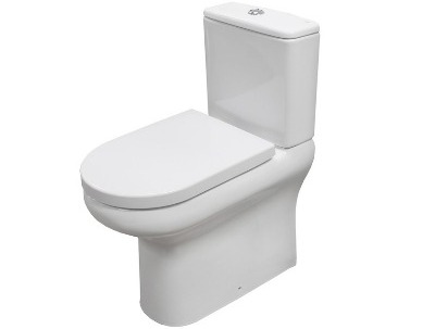 RAK Compact Delux Rimless comfort height, flush fit close couple wc with soft close seat thumbnail